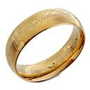 ราคาถูก ชั้นวางไวน์-สำหรับผู้ชาย วงแหวน ทอง Titanium Steel แฟชั่น ของขวัญวันคริสต์มาส ทุกวัน เครื่องประดับ