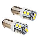 זול תאורת פנים לרכב-SO.K BA9S מכונית נורות תאורה 3 W SMD 3528 80 lm LED אורות הפנים
