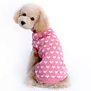 billiga Hundkläder-Tröjor Vinter Hundkläder Rosa Kostym Flickor Husky Labrador golden retriever Ull Hjärta Håller värmen XS S M L XL XXL