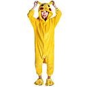 levne Kigurumi pyžama-Dětské Pyžama Kigurumi Pika Pika Zvířecí Pyžamo Onesie Flanel Fleece Žlutá Cosplay Pro Chlapci a dívky Animal Sleepwear Karikatura Festival / Svátek Kostýmy