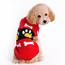 billiga Hundkläder-Hund Tröjor Hundkläder Tecknat Röd Rosa Ull Kostym Till Vinter