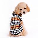 billiga Hundkläder-Katt Hund Tröjor Vinter Hundkläder Brun Kostym Husky Labrador Bulldogg Ull Pläd / Rutig Klassisk Håller värmen XS S M L XL