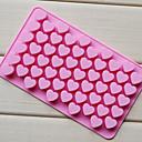 billiga Baktillbehör-55 hål non-stick silikon chokladkaka kärlek hjärtformad mögel bakeware bakning gelé is hjärta mögel