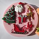 Χαμηλού Κόστους Περιλαίμια σκύλων και λουράκια-1pc Σιλικόνη Φιλικό προς το περιβάλλον Χριστούγεννα Κέικ Μπισκότα Πίτες κινούμενα σχέδια σε σχήμα ψήσιμο Mold Εργαλεία ψησίματος