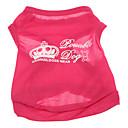 baratos esponjas de maquiagem-Cachorro Camiseta Roupas para Cães Rosa Ocasiões Especiais Terylene Carta e Número XS S M L