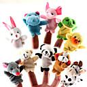 ราคาถูก หุ่นกระบอก-สำหรับเรื่องก่อนนอน Animal Finger Puppet Puppets น่ารัก Cartoon สิ่งทอ ซิลิโคน Plush เด็กผู้หญิง Toy ของขวัญ 10/12 pcs