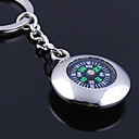billiga Bröllopsgåvor-Personlig graverad gåva runda kompass Shaped Keychain