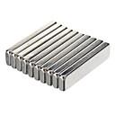 billiga Andra delar-20 x 5 x 2 mm Kraftfull NdFeB magneter - Silver (10 st)