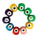 Χαμηλού Κόστους Σβούρες πολλαπλών κινήσεων-5PCS Χαρτί Punch Craft Seal Εκτύπωση Toy (Random Color)