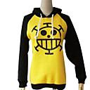 billiga Anime-huvtröjor och sweatshirts-Inspirerad av One Piece Trafalgar Law Animé Cosplay-kostymer Japanska cosplay Pull Tryck Långärmad Kappa Till Herr / Dam