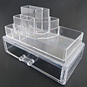 ราคาถูก กล่อง กระเป๋า และกระปุก-เครื่องมือแต่งหน้า Cosmetics Storage Drawears ที่ถอดออกได้ / 2 Tiers แต่งหน้า 1 pcs อะคริลิค / พลาสติก Quadrate ทุกวัน ประทิ่น Grooming Supplies