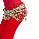 זול הלבשה לריקודי בטן-ריקוד בטן צעיפי מותן לריקודי בטן בגדי ריקוד נשים הדרכה פוליאסטר חרוזים / נצנצים / מטבעות טבעי צעיף מותניים לריקודי בטן