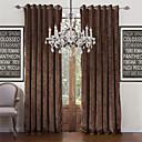 billiga Mörkläggningsgardiner-skräddarsydda energibesparande gardiner draperar två paneler för vardagsrum