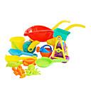 baratos Brinquedo de Água-11 Pieces grande porte multicoloridos Trolley e Waterwheel Funil Set Toy