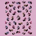 Χαμηλού Κόστους Αυτοκόλλητα Νυχιών-1 pcs 3D Αυτοκόλλητα Νυχιών Στρας Lovely τέχνη νυχιών Μανικιούρ Πεντικιούρ Καθημερινά Λουλούδι / Μοντέρνα / 3D αυτοκόλλητα καρφιών