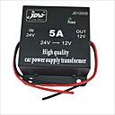 זול ממיר כוח-jd1205 5a כוח ממיר חשמל מהפך 24v ל 12v המכונית עם 4 יציאות טעינה USB ממיר כוח