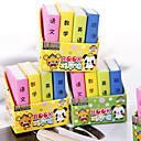 billiga Skolmaterial-specialdesign boksformad suddgummi (4 st) för skolan / kontoret