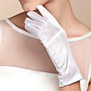 ราคาถูก ถุงมือปาร์ตี้-ฝ้าย / ซาติน ความยาวข้อมือ ถุงมือ เสน่ห์ / Stylish / ถุงมือเจ้าสาว กับ ลายปัก / ไม่มีลาย