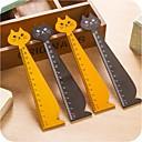 Χαμηλού Κόστους Σχολικά Είδη-σχήμα γάτας ξύλινο χάρακα (τυχαία χρώμα)