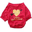 billiga Hundkläder-Hund T-shirt Hundkläder Andningsfunktion Ros Kostym Cotton Hjärta XS S M L