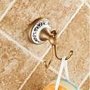 Χαμηλού Κόστους Βρύσες Νιπτήρα Μπάνιου-Γάντζος για μπουρνούζι Υψηλή ποιότητα Πεπαλαιωμένο Ορείχαλκος Κεραμικό 1 τμχ - Ξενοδοχείο μπάνιο