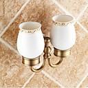 baratos Suportes de Escova de Dentes-Suporte para Escova de Dentes Removível Tradicional Latão Cerâmica 1 Pça. - Banho do hotel