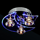 povoljno Viseća rasvjeta-3-Light Flush Mount Ambient Light Electroplated Metal Crystal, LED 110-120V / 220-240V Bulb Included / Integrirano LED svjetlo / G4 / Integrirano LED svjetlo
