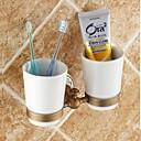 ราคาถูก อุปกรณ์เสริมก๊อกน้ำ-ที่วางแปรงสีฟัน ถอดได้ ของโบราณ ทองเหลือง เซรามิก 1 ชิ้น - อ่างอาบน้ำของโรงแรม