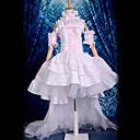 billiga Animekostymer-Inspirerad av Chobits Chii Animé Cosplay-kostymer Japanska cosplay Suits / Klänningar Spets Ärmlös Klänning / Krage / Ärmar Till Dam / Satin