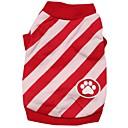 billiga Hundkläder-Katt Hund T-shirt Hundkläder Röd Blå Kostym Cotton Rand XS S M L