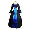billiga Genomskinliga gardiner-Victoriansk Medeltida kostymer 18th Century Klänningar Festklädsel Maskerad Dam Spets Kostym Vintage Cosplay Party Bal Långärmad Lolita Balklänning