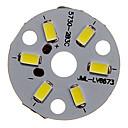 baratos Faixas de Luzes LED-zdm 1 pc 3 w 300-350lm 6 x 5730 smd leds remendo fonte de luz placa de fonte de luz branca fria 6000-6500 k substrato de alumínio (dc9-12v, 300ma)