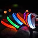 billige Målere og detektorer-Kat Kæledyr Hund Krave Hundehalsbånd til trening LED Lys Elektrisk Selvlysende Ensfarget Nylon Blå Rosa Regnbue