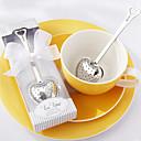 Χαμηλού Κόστους Προσωρινά Τατουάζ-τσάι καρδιά ροφήματος ανοξείδωτο χάλυβα τσάι σε κομψό λευκό δώρο γαμήλιο δώρο κουτί
