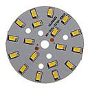 baratos Faixas de Luzes LED-Zdm 1 pc 9 w 500-550lm 18 x 5730 smd leds remendo fonte de luz placa de fonte de luz branca quente 3000-3500 k substrato de alumínio (dc21-24v, 300ma)