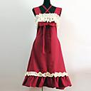 billiga Lolitaklänningar-Prinsessa Classic Lolita Prinsess Lolita Klänningar Dam Flickor Cotton Japanska Cosplay-kostymer Röd Lappverk Ärmlös Medium längd / Klassisk / Traditionell Lolita
