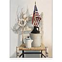 Χαμηλού Κόστους Φώτα νησί-Retro Country Style Chair And Stars Stripes Roller Shade