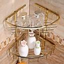 Χαμηλού Κόστους Βρύσες Νιπτήρα Μπάνιου-Επιχρύσωση Brass Υλικό Ντουζιέρα Καλάθια
