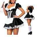 baratos Fantasias Sexy-Mulheres Ternos de Empregadas Costumes carreira Maid Uniforms Gênero Fantasias de Cosplay Festa a Fantasia Retalhos Vestido