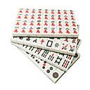 billiga brädspel-20mm resa miljö grön och vit mahjong pack med tygpåse