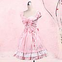 billiga Lolitamode-Prinsessa Sweet Lolita Klänningar Dam Flickor Cotton Japanska Cosplay-kostymer Plusstorlekar Anpassad Rosa Balklänning Rosett Kortärmad Medium längd