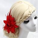 baratos Brincos-Cristal / Pena / Tecido Tiaras / Pentes de cabelo / Flores com 1 Casamento / Ocasião Especial / Festa / Noite Capacete