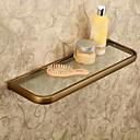 billige Baderomshyller-Hylle til badeværelset Antikk Messing / Glass 1 stk - Hotell bad