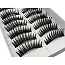 ราคาถูก ขนตา-ขนตาปลอม False Eyelashes 20 pcs Volumized ความหงิก ยาวพิเศษ เส้นใย ทุกวัน ยาวบริเวณปลายตา - แต่งหน้า เมคอัพประจำวัน ประทิ่น Grooming Supplies
