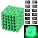 cheap Magnet Toys-216pcs 5mm DIY Buckyballs and Buckycubes Magnetic Blocks Balls Toys Fluorescent Green
