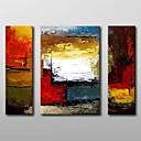 povoljno Apstraktno slikarstvo-Hang oslikana uljanim bojama Ručno oslikana - Sažetak Klasik Uključi Unutarnji okvir / Tri plohe / Prošireni platno