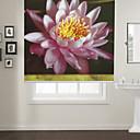 זול זכרון-Botanic Style Lotus Roller Shade