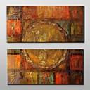 billige Kunsthåndverk-Hang malte oljemaleri Håndmalte - Abstrakt Klassisk Tradisjonell Inkluder indre ramme / Stretched Canvas
