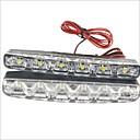 billiga Halvljus-2pcs Trådanslutning Bilar Glödlampor 1.2 W SMD LED 250 lm 6 LED innerbelysningen Till