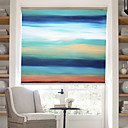 Χαμηλού Κόστους Ελαιογραφίες-Oil Painting Style Colored Abstract Forms Ⅲ linen Roller Shade